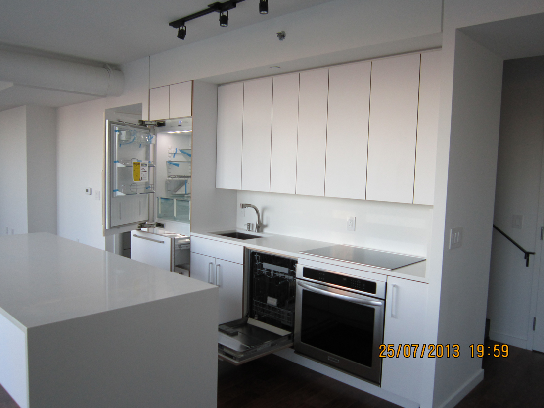 IKEA installed in condo kitchen