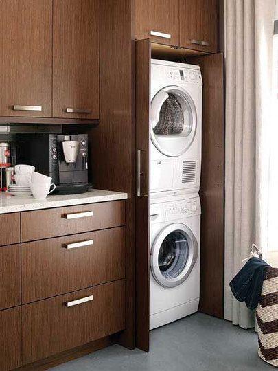laundry-inside-kitchen-cabinet